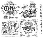 hand lettering signs set with... | Shutterstock .eps vector #424539658