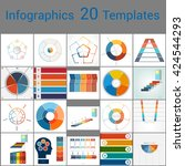infographics 20 templates  text ... | Shutterstock .eps vector #424544293