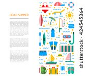 icons set for summer holiday... | Shutterstock .eps vector #424545364