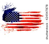 us flag made of colorful... | Shutterstock . vector #424547878