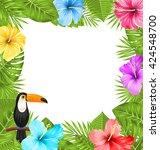 illustration exotic jungle... | Shutterstock .eps vector #424548700