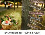 the decorations are on the... | Shutterstock . vector #424557304