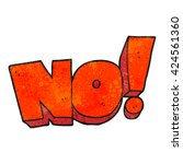 freehand textured cartoon no ... | Shutterstock .eps vector #424561360