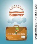 travel suitcase. credit card... | Shutterstock .eps vector #424564120