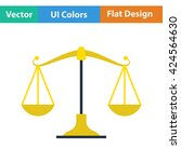 flat design icon of scale in ui ...