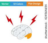 flat design icon of brainstorm...