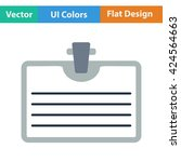 flat design icon of badge with...