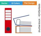 flat design icon of folders...
