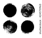 hand drawn abstract black paint ... | Shutterstock .eps vector #424570963