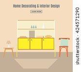 home interior. interior design... | Shutterstock .eps vector #424571290