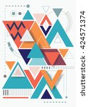 vector abstract background with ... | Shutterstock .eps vector #424571374