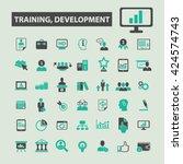 training development icons  | Shutterstock .eps vector #424574743