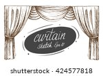curtain sketch. vector. isolated   Shutterstock .eps vector #424577818