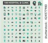hospital clinic icons  | Shutterstock .eps vector #424577980