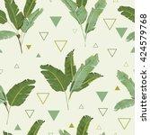 seamless pattern. tropical palm ... | Shutterstock .eps vector #424579768