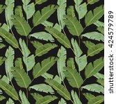 seamless pattern. tropical palm ... | Shutterstock .eps vector #424579789