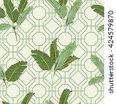 seamless pattern. tropical... | Shutterstock .eps vector #424579870