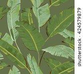 seamless pattern. tropical palm ...   Shutterstock .eps vector #424579879