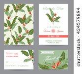 wedding invitation card.... | Shutterstock .eps vector #424579894