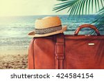 concept of summer traveling... | Shutterstock . vector #424584154