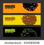 abstract header or banner set... | Shutterstock .eps vector #424585048
