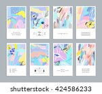 set of creative universal... | Shutterstock .eps vector #424586233
