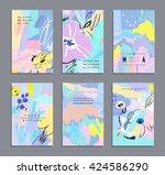 set of creative universal... | Shutterstock .eps vector #424586290