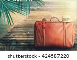 concept of summer traveling... | Shutterstock . vector #424587220