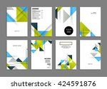 abstract background. geometric... | Shutterstock .eps vector #424591876