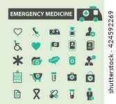emergency medicine icons  | Shutterstock .eps vector #424592269