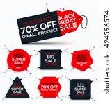 Set of Black friday sale. Black friday banner. Sale banner. Discount stretch Banners. New offer. Vector illustration. | Shutterstock vector #424596574