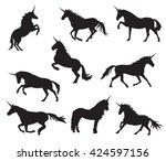 vector unicorns image... | Shutterstock .eps vector #424597156