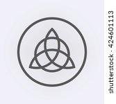 celtic trinity knot . vector... | Shutterstock .eps vector #424601113