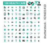 health care icons  | Shutterstock .eps vector #424601410
