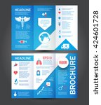 medical care template. brochure ... | Shutterstock .eps vector #424601728