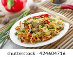 asian meal made of rice noodles ... | Shutterstock . vector #424604716