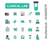 clinical lab icons  | Shutterstock .eps vector #424605079