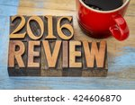 2016 review banner   text in... | Shutterstock . vector #424606870