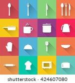kitchen icon. kitchen vector | Shutterstock .eps vector #424607080