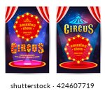 circus amazing show poster... | Shutterstock .eps vector #424607719