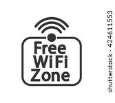 wifi free zone sticker  icon...