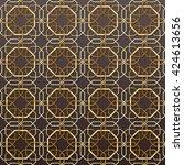 arabic seamless pattern....   Shutterstock .eps vector #424613656