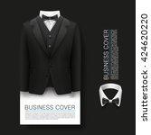 tuxedo cover background. cover...   Shutterstock .eps vector #424620220