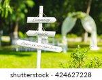 beautiful outdoor wedding... | Shutterstock . vector #424627228