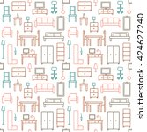 vector seamless pattern... | Shutterstock .eps vector #424627240