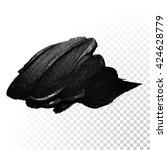 vector black paint smear stroke ...   Shutterstock .eps vector #424628779
