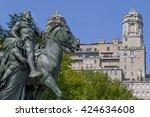 statue of president theodore... | Shutterstock . vector #424634608