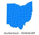 map of ohio   Shutterstock .eps vector #424636189