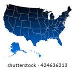 map of usa | Shutterstock .eps vector #424636213