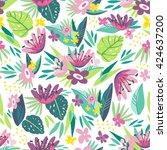 bright vector seamless pattern... | Shutterstock .eps vector #424637200